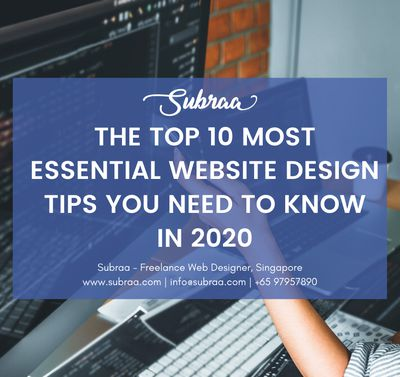 The Top 10 Most Essential Website Design Tips You Need To Know in 2020