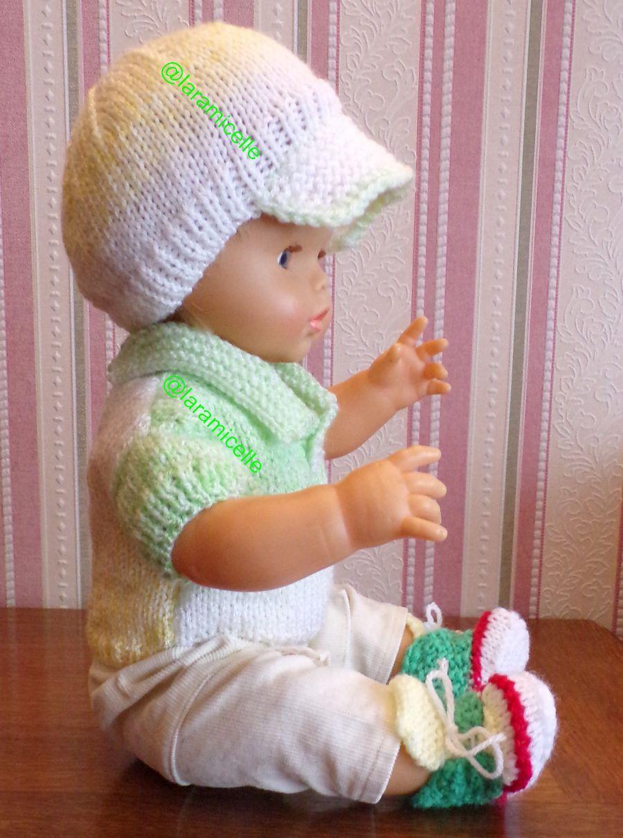 tuto gratuit  poupée  : casquette