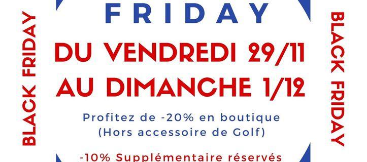 Black Friday, c'est aussi au Pro Shop de Falgos!