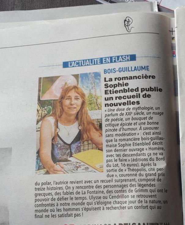 Article du Paris-Normandie 23 août 2021
