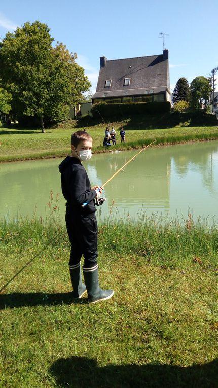 Pêche à l'étang de la Cité du Lac pour les CM1 et CM2