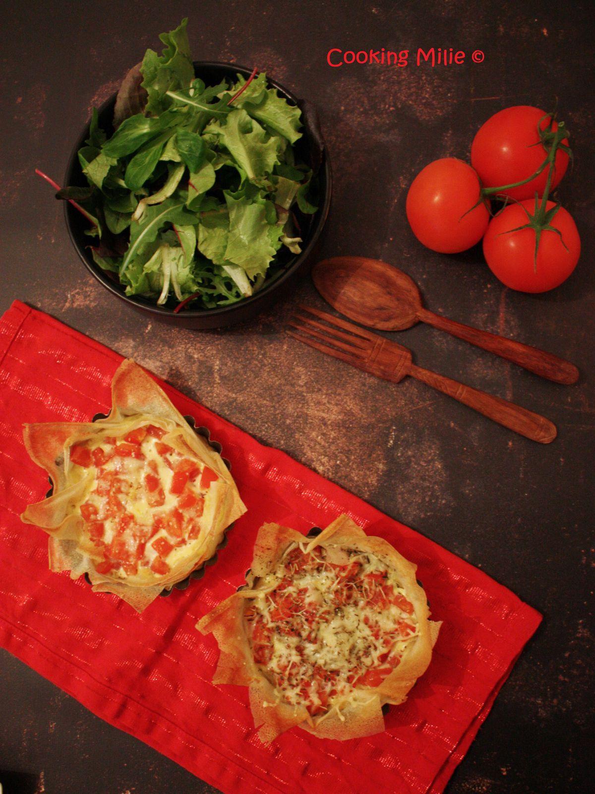 Tartelettes légères aux tomates