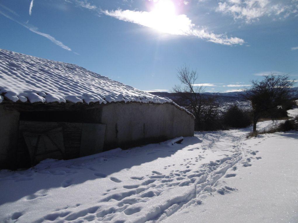 Belle rando dans la neige au départ de Buis-les-Baronnies (26) (parcours n°4 noir) le 9/01/2021