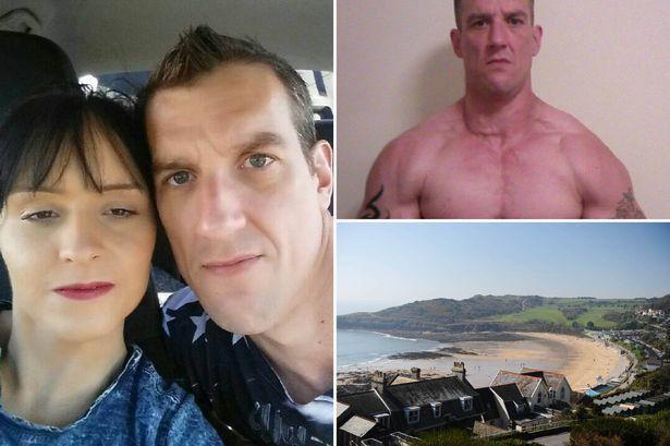 Stacey Gwilliam, la novia enterrada viva y su novio verdugo, el culturista Keith Hughes.- El Muni.