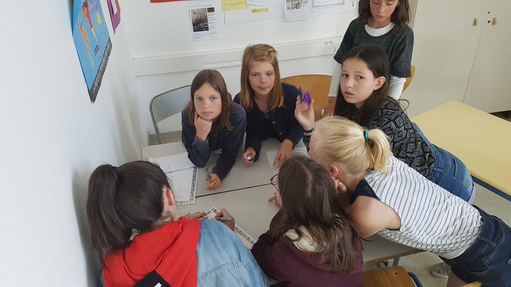Rencontre avec la classe de 6ème4 et Madame Meyrand Viard, professeure de français.