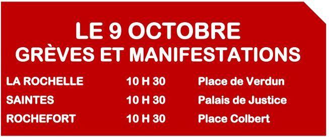9 octobre 2018 pour une riposte de masse contre la politique à Macron