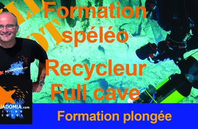 Formation spéléo plongée en recycleur intro to cave et full cave - Lot, décembre 2019