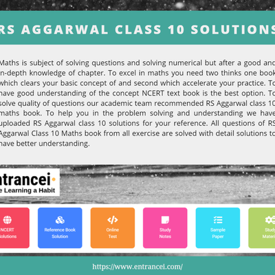 RS Aggarwal Class 10 solution for Maths Free PDF Download | Entrancei