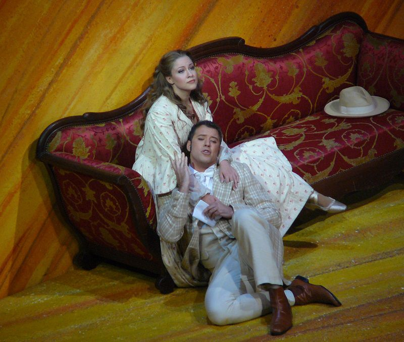 Alisa Kolosova (Olga) et Joseph Kaiser (Lenski)