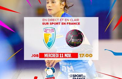 Toulon Saint Cyr / Brest (Ligue Féminine Butagaz) en direct mercredi sur Sport en France !