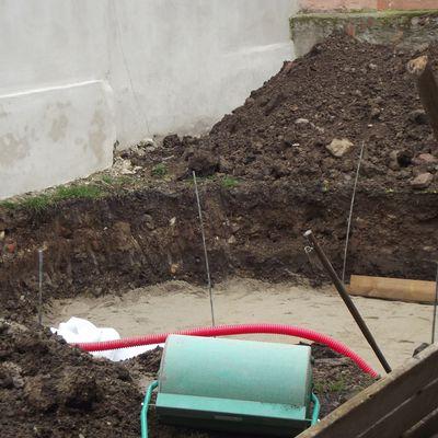 Installation de la piscine bois