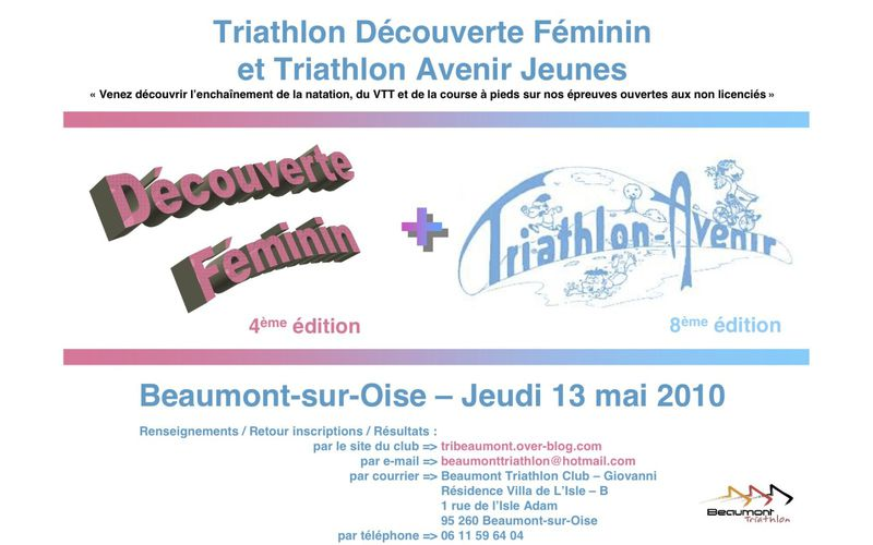Triathlon Avenir et découverte féminin - Beaumont