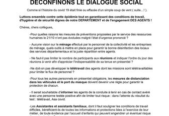 DECONFINONS LE DIALOGUE SOCIAL