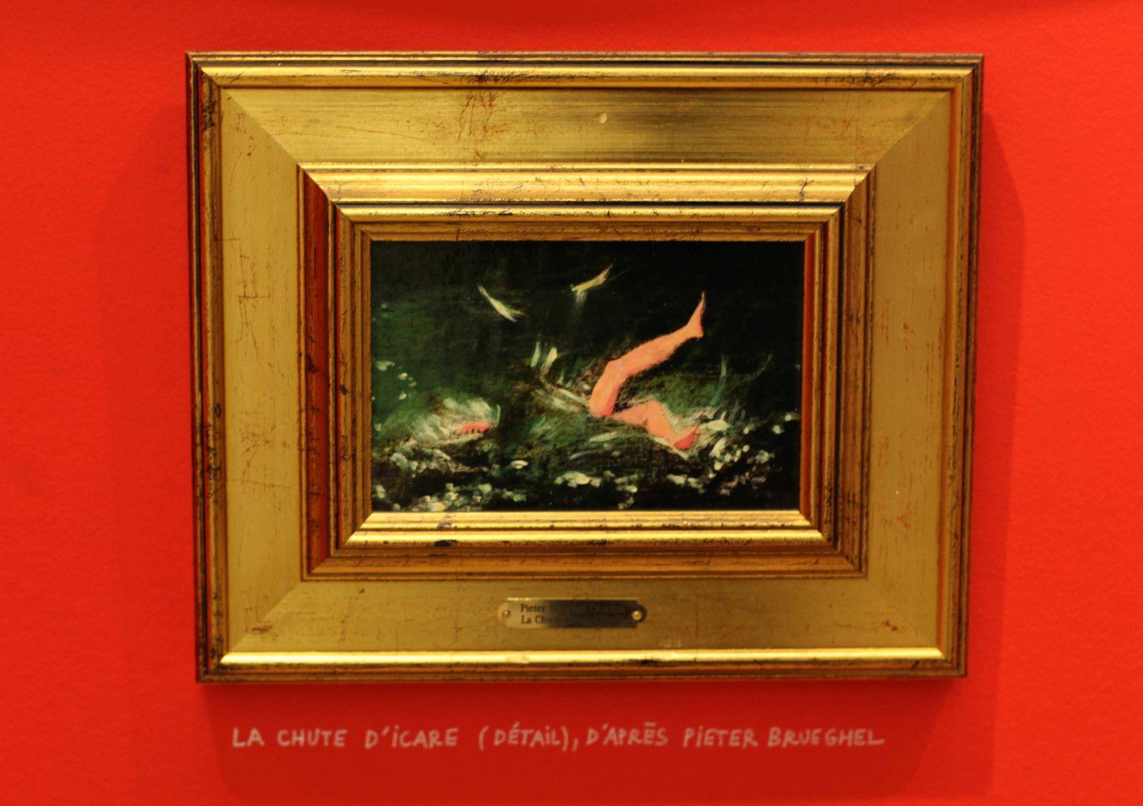 """""""La chute d'Icare (Détail), d'après Pieter BRUEGHEL"""" de Clémentine MÉLOIS - Courtesy de la Galerie Lara Vincy © Photo Éric Simon"""