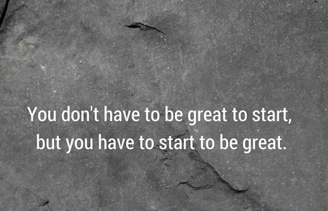 Shahzaad Ausman - You Don't Have To Be Great To Start
