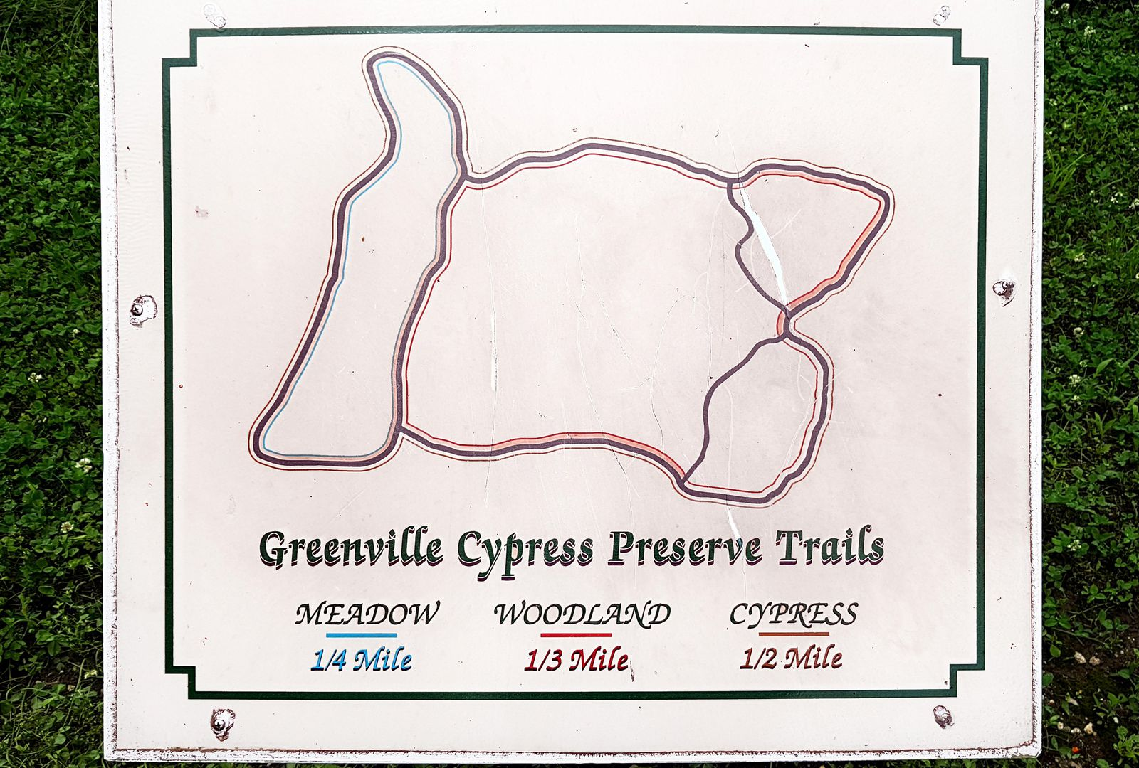 Greenville Cypress Preserve Trails carte