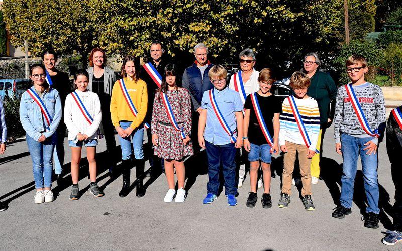 CABRIERES D'AIGUES :  Mise en place du conseil municipal juniors