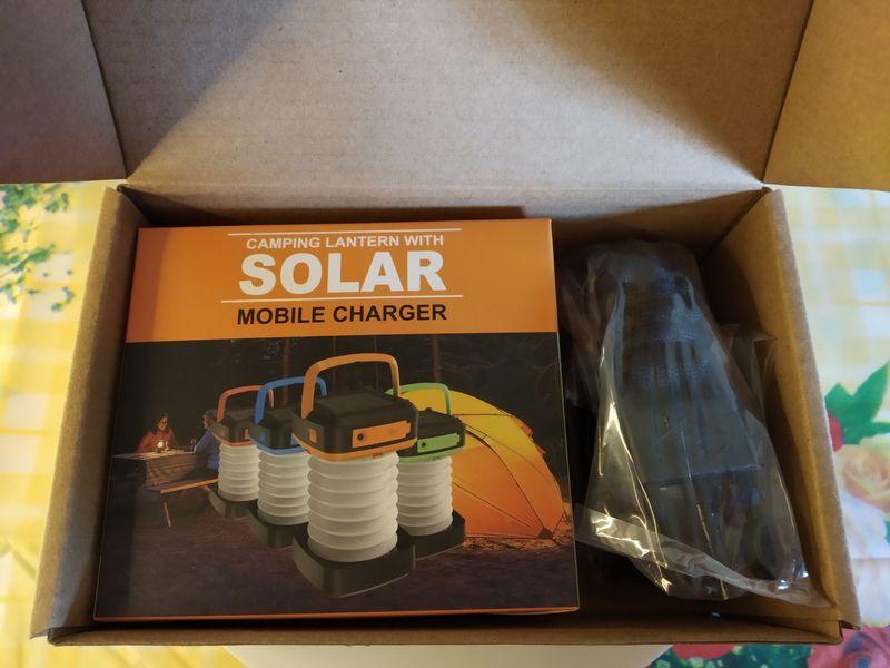 unboxing de la lampe solaire nomade multifonctions - Globalink Outdoor Lantern @ Tests et Bons Plans