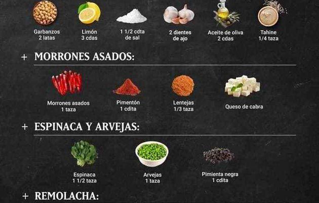 Hummus, 4 recetas diferentes