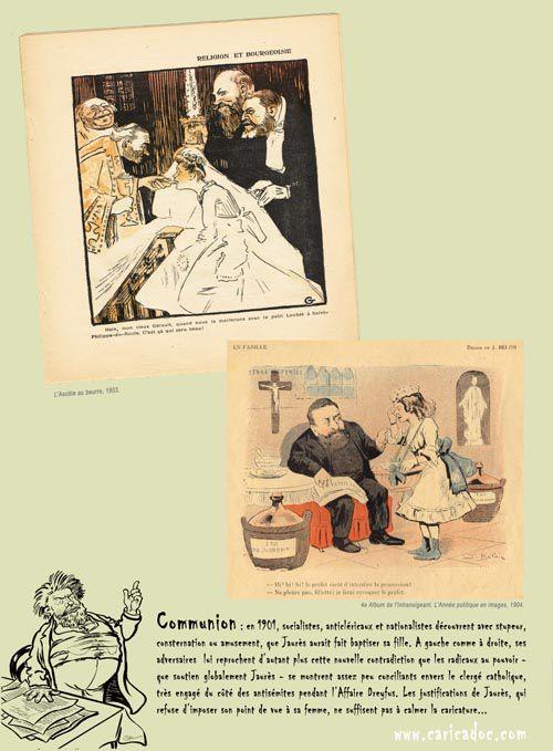 Jean Jaurès - caricatures : exposition itinérante à louer / imprimer