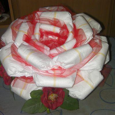 Gateau de couche en rose