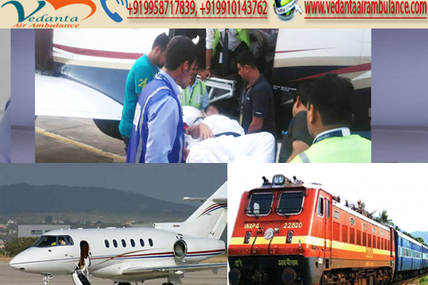 Prefer the Quick Air Ambulance from Delhi by Vedanta Air Ambulance Service with World-class Facility
