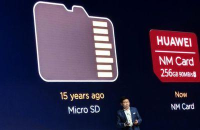 Huawei ya no podría vender teléfonos con ranura para tarjetas microSD
