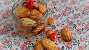 Petites madeleines citron / cerises