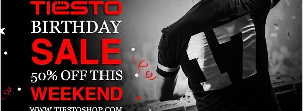50% discount at tiestoshop spécial Bithday Tiësto