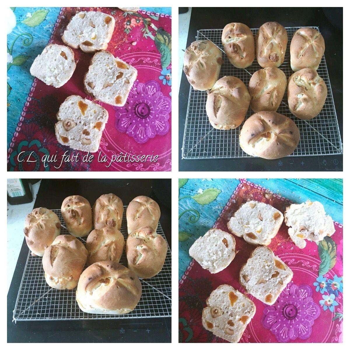 Mes petits pains abricots noisettes