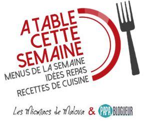 """Menu """" A Table cette semaine"""" #63"""