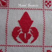 SAL : Plaid Broderie Rouge... Grille 54/D6 - Chez Mamigoz