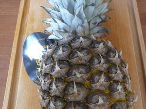 Tartare d'ananas et son sorbet