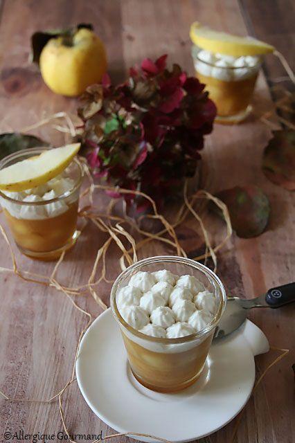 verrines pommes caramélisées chantilly coco sans gluten sans lait sans œufs
