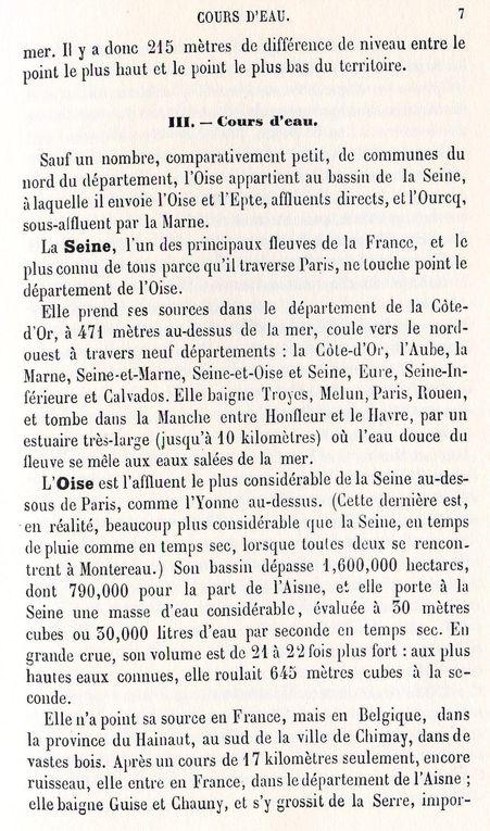 Album - le département de l'Oise, sa configuration en 1876