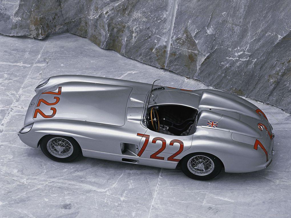 VOITURES DE LEGENDE (514) : MERCEDES-BENZ  300 SLR  ROADSTER - 1955