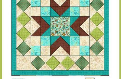How to make an easy quilt wallhanging following the full color diagrams and directions #quilttutorial #patchwork #howto #DIY