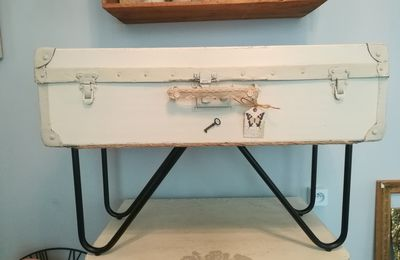VALISE VINTAGE-TABLE BASSE