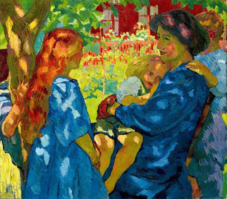 Portrait de famille sous le vieil arbre - G. Giacometti