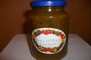 CONFITURE KIWI CITRON