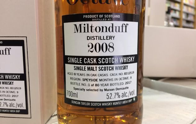 Miltonduff 8Y Duncan Taylor 'Octave'