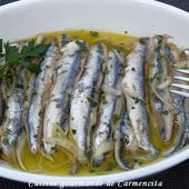 Anchois marinés - Cuisine gourmande de Carmencita