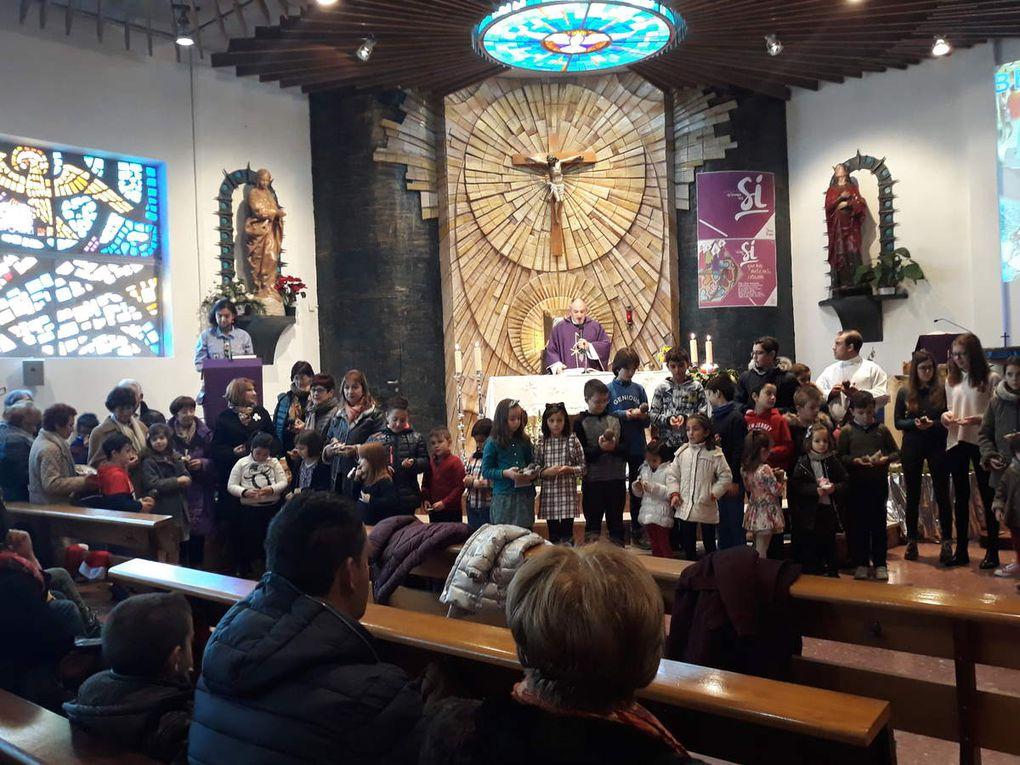 Luz de Belen y bendicion de los Niños Jesús