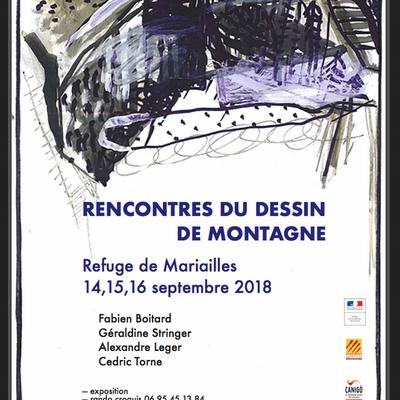 """Expo """"Rencontres du dessin de montagne"""" en image et son !"""