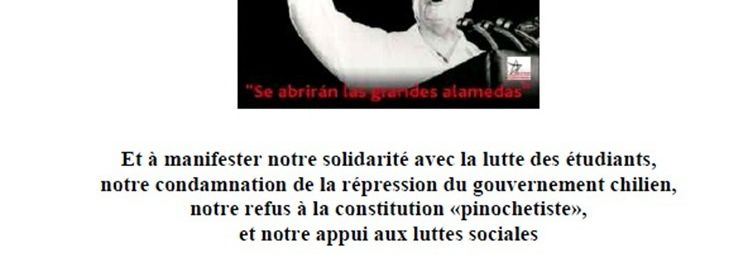 11 Septiembre 2012, commémoration du 39 eme anniversaire de la Mort de Salvador Allende