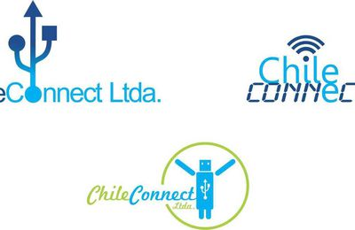 Diseño de Logotipo Corporativo para empresa Chile connect