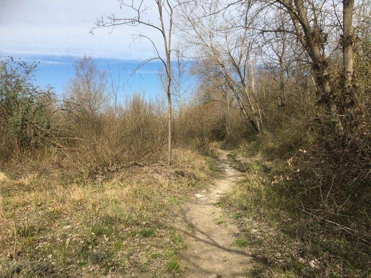 """Sentier """"Aouste-Crest"""", rive droite de la Drôme"""