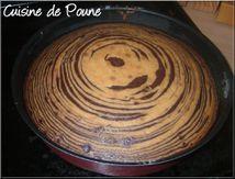 Gâteau Zébré