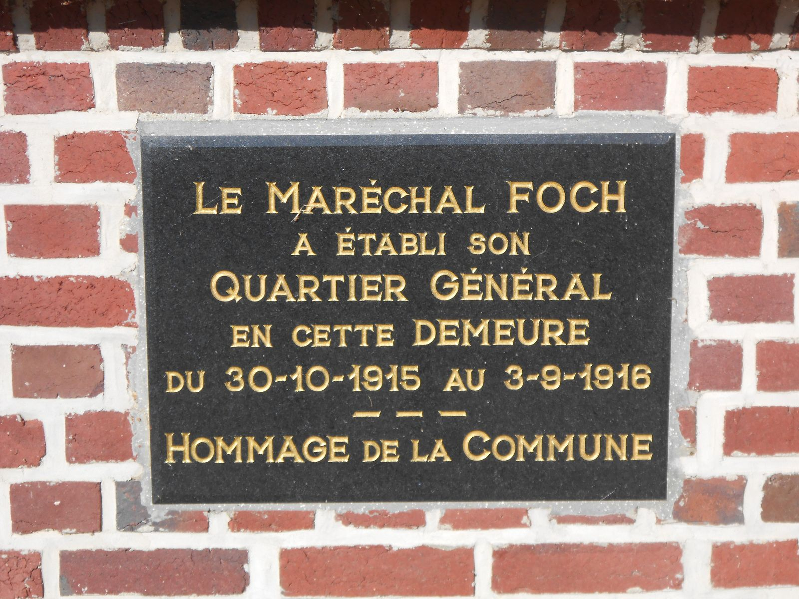 photo 5 - DURY - Maison état-major Foch 1ère guerre mondiale