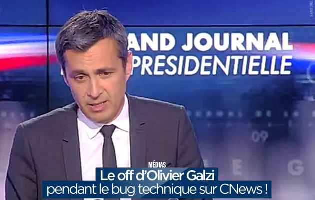 Le off d'Olivier Galzi pendant le bug technique sur CNews ! #fail